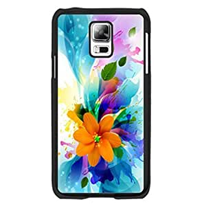 Pretty Fantasy Flower Design Samsung Galaxy S5 I9600 Case Cover Fancy Colorful Hybrid Floral Leaves Print Hard Plastic Cell Phone Skin for Girls Kimberly Kurzendoerfer