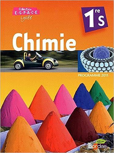 Pdf book downloads gratuitement CHIMIE 1RE S ESPACE MAN PT FOR PDF FB2