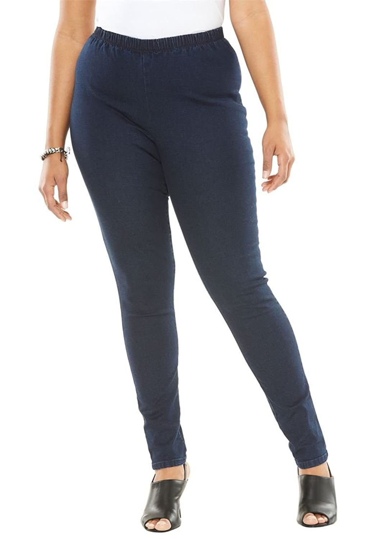 Women's Plus Size Stretch Straight Leg Jeggings