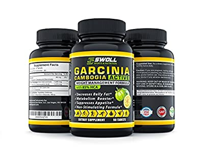 85% HCA - Garcinia Cambogia Extract - All Natural 100% Pure Appetite Suppresant, Carb Blocker, Diuretic and Weight Loss Supplement Formula Pills to Slim Down and Fulltime Energy