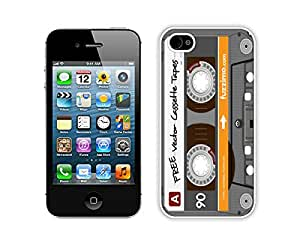 Protector for apple iphone 4 4s,Audio Cassette iphone 4 4s case white cover 5