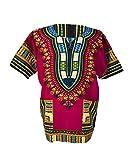 Lofbaz Traditional African Print Unisex Dashiki Size XXXXL Pink