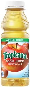 Tropicana Juice 100% Apple, 15.2 oz Plastic Bottle (Pack of 24)