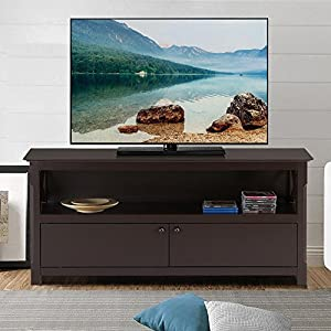 Go2buy X Shape Wood TV Stand Media Console Cabinet Home Entertainment  Center Table For Flat Screen TVs , Espresso