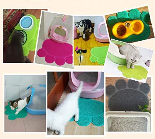 Kiki N Pooch Printed Paw Shape Pad Dog/Cat Litter Mat Pet Puppy Kitty Dish Feeding Food Bowl Placemat Anti-Skid Waterproof Sleeping Pad - Color May Vary