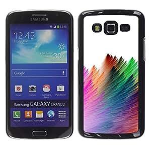For Samsung Galaxy Grand 2 II / SM-G7102 / SM-G7105 Case , Strokes Colorful Feather White - Diseño Patrón Teléfono Caso Cubierta Case Bumper Duro Protección Case Cover Funda
