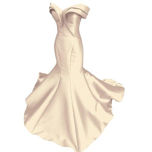 Fluorodine Women's Pleat Sweetheart Long Mermaid Evening Gown Prom Dress