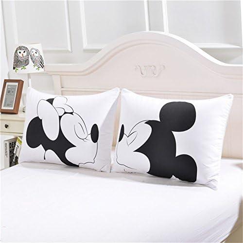 Mickey Minnie Maus Kissenbezug Kissenhülle Sofakissen Dekokissen Bett Kopfkissen