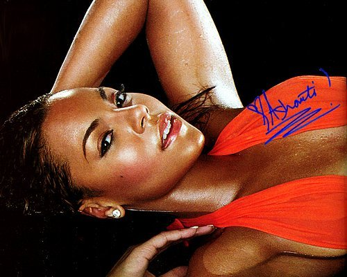 Ashanti Red Bed Autographed Preprint Signed Photo - Bed Signed Photo