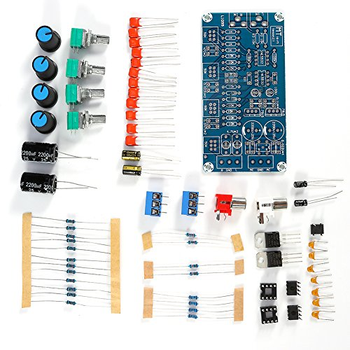 NE5532 Stereo Preamplifier Volume Control Board with Treble Midrange and Bass Tone Controls DIY Kit (Preamplifier Kit Stereo)