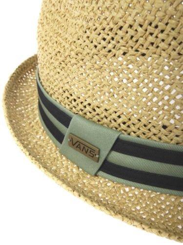 a289fd1e04a Vans Off The Wall Mens Alamitos Straw Fedora Hat Cap - Safari (S M)   Amazon.ca  Clothing   Accessories