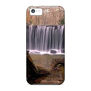 Mldierom Defender Case For Iphone 5c, Forest Rocks Waterfall Pattern