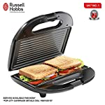 Russell Hobbs RST750GR 750 Watt Non-Stick with Fixed Grilled Plate Crispy Sandwich Toaster for Multi Snacks