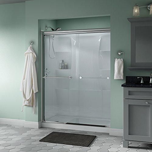 Buy Cheap Delta Shower Doors SD3172277 Trinsic 60 x 70 Semi-Frameless Traditional Sliding Shower D...