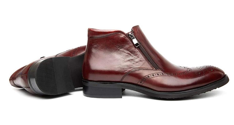8965db40cb0337 Eeayyygch Herrenschuhe Business Lederschuhe Casual Dress Schuhe für Party    Abend (Farbe   Weinrot