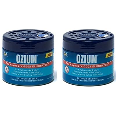 Ozium Smoke & Odors Eliminator Gel. Home, Office and Car Air Freshener 4.5oz (127g), Outdoor Essence Scent (2 pack): Automotive