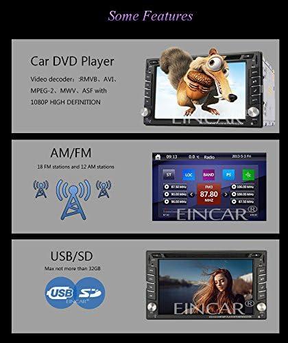 38 pays NAVI logiciel incl Autoradio Bluetooth mains libres f Eincar XM-2DTSBN6216 Cam/éra libre et 8 Go Carte Carte Double din GPS St/ér/éo // Dash Radio Stereo // navigation GPS Cartes de lEurope
