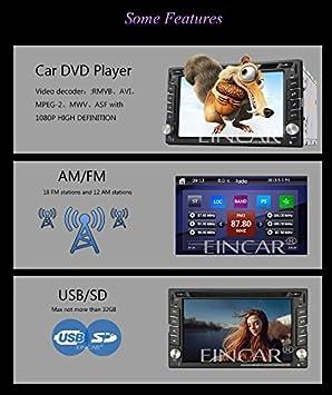 + Autoradio Bluetooth Freisprecheinrichtung Eincar XM-2DTSBN6216 GPS Autoradio // in Dash-Radio Stereo // Head Unit Auto-Player mit 8 GB GPS-Navigation Europa-Karten 38 L?nder NAVI-Software inkl
