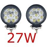 Miracle Lampe LED 27W projecteur spot idéal pour véhicule tout-terrain, chantier, phare bateau, auto 12V 24V (2)