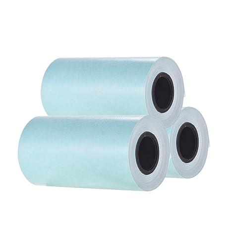 Aibecy - Rollo de papel adhesivo (57 x 30 mm) para impresora ...