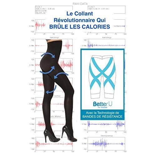 BODY WRAP Collant Fitness Taille Haute - Vu à la TV - Brûle Graisse - Tonification Musculaire Perte de Poids - Maintien - Exercice Prêt-a-Porter Sculptant Femme - Série Better-U