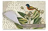 Cala Home 24-Pack Disposable Paper Placemats, Catesby Bluebird Collage