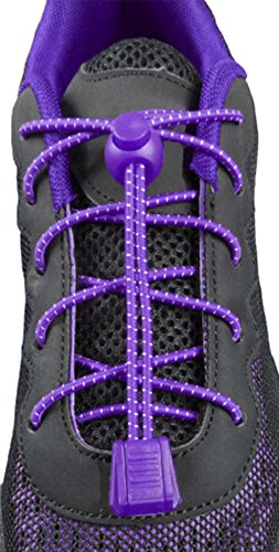 ChezMax Elastic No Tie Laces Purple product image