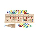 Alytimes Colourful Montessori Teaching Tool Math Number Wood Board Preschool Toy Kid