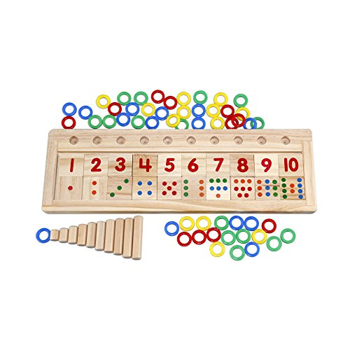 Alytimes Colourful Montessori Teaching Tool Math Number Wood Board Preschool Toy Kid for sale