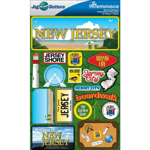 (Reminisce Jet Setters 2 3-Dimensional Sticker, New Jersey)