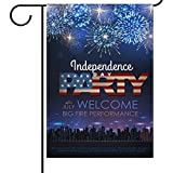 ALAZA Independence Day Garden Flag 12 x 18 Inch, USA American Flag Party Celebrating Firework House Flags, Double-sided Yard Garden Flags, 4th of July Outdoor Flags for Home Decoration For Sale