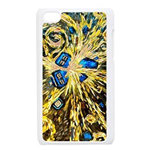 gdragonhighfive ipod touch 4 Back Case Cover Doctor Who Van Gogh's Exploding Tardis For itouch 4th Generation
