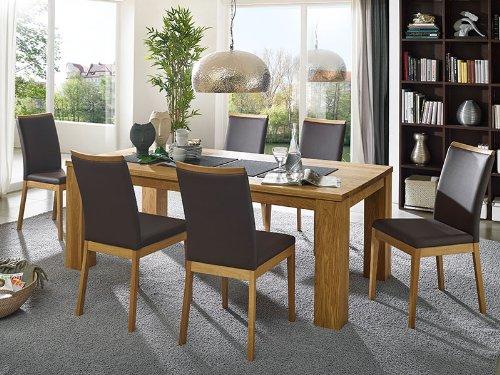 Tischgruppe Vera Wildeiche massiv geölt