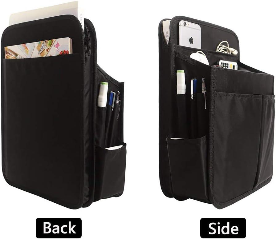 Lightweight Nylon Bag Organizer for Men Women Waterproof Black SHINGONE 17 Pockets Backpack Organizer Insert with Zipper