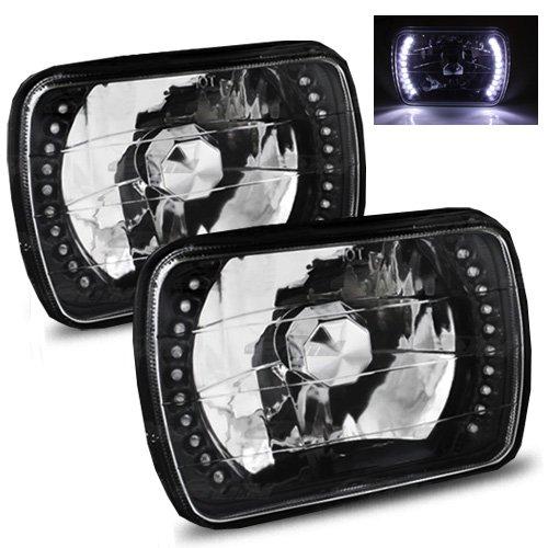 1978-1983 F-100 7x6 H6052/H6054 Semi-Sealed Beam Black Diamond White LED Headlights