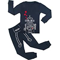 BOOPH Boys Pajamas, 2 Piece Little Boys Pajamas Sets 100% Cotton Clothes Toddler Kids Sleepwear 2T-7T