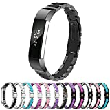 Fitbit Alta HR and Alta Bands Metal, Greeninsync Fitbit Alta Stainless Steel Bands Adjustable Replacement Accessories Metal Wristband Small Large for Fitbit Alta Bracelet Men Women Girls Boys