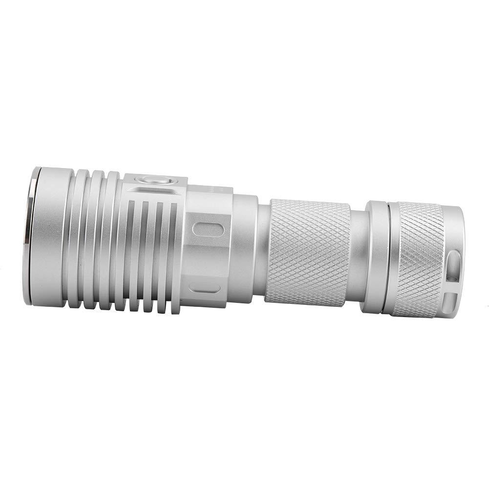 Linterna de mano de grado militar antorcha port/átil IPX8 iluminaci/ón de emergencia de alto brillo para la caza al aire libre no incluida bater/ía para acampar 26650