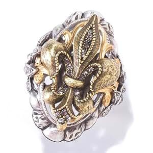 Fleur De Lis Ring, French Ring, Fleur De Lis, Paris Ring, 1950s Ring, Fleur De Lis Jewelry