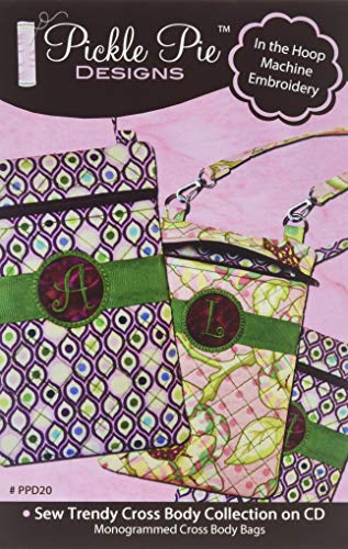 Pickle Pattern - Pickle Pie Designs PPD20 Sew Trendy Cross Body Bag Collection Pattern cd