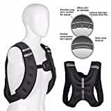 Fitness Maniac Weighted Vest 20 lbs Weight Vests Gym Weight Training Running Adjustable Strap Jacket Weight Fitness Gym Weight Loss Body Workout Vest 20-Pound