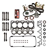 4g64 cylinder head - Evergreen HSHBTBK5040 Head Gasket Set Head Bolts Timing Belt Kit 99-05 Dodge Mitsubishi Chrysler 2.4 4G64