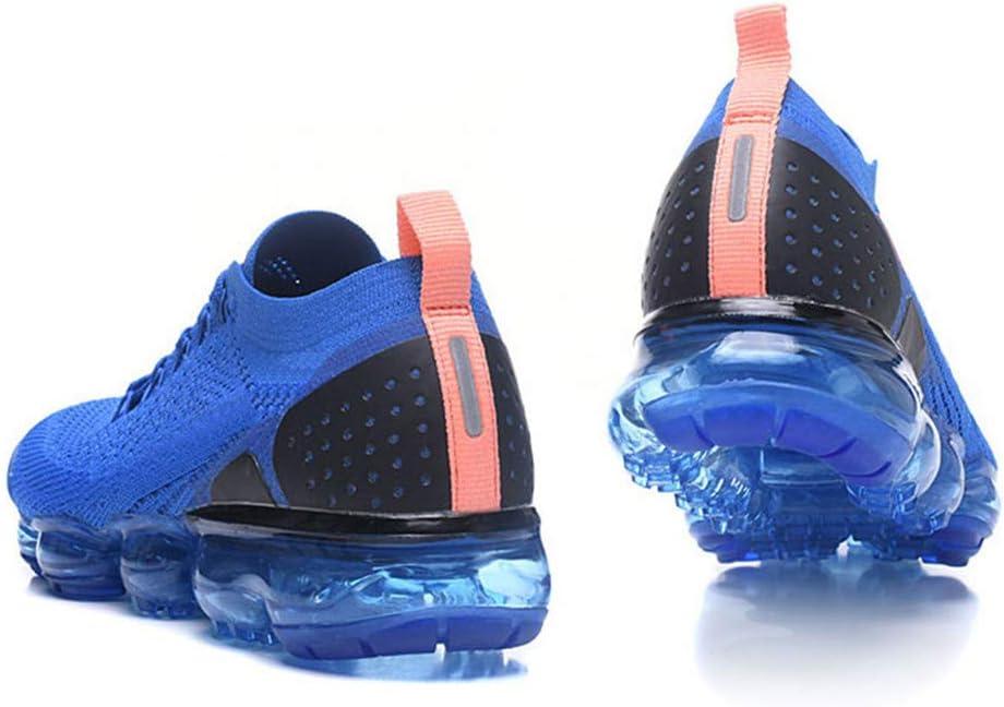 Liufn Men's Sneakers Air Cushion Vapor Max Fly Knit 2 3 Running Training Sport Shoes Royal Blue Orange Royal blue orange