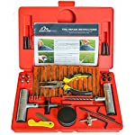 Boulder Tools – 56 Pc Heavy Duty Tire Repair Kit For Car, Truck, RV, Jeep, ATV, Motorcycle, Tractor, Trailer. Flat Tire Puncture Repair Kit