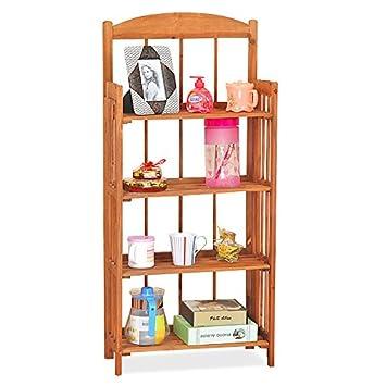 Tinxs Folding Wooden Pine Display Bookcase Bookshelf Craft Fairs Storage 234 Tiers