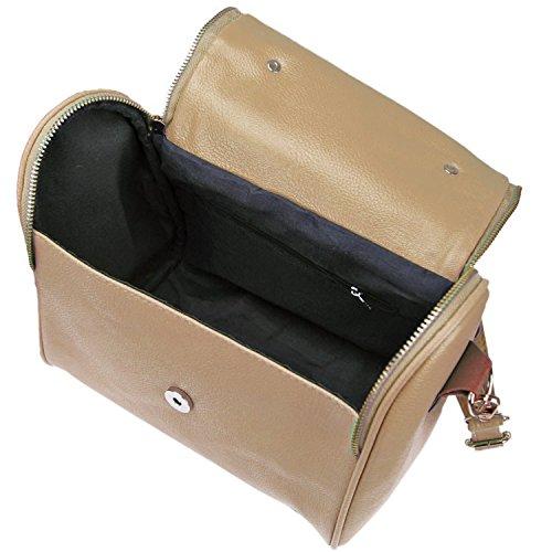 de bolso Caqui cuero las bolsos color mano mujeres bandolera bolso bandolera caqui Las niñas PU xzv6I1q