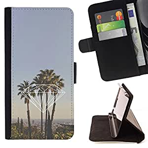 Momo Phone Case / Flip Funda de Cuero Case Cover - La Californie Palm Trees - Sony Xperia Z3 Compact