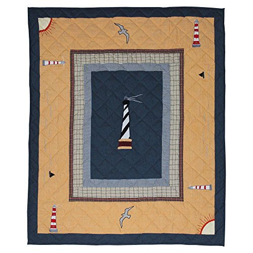 Patch Magic Lighthouse Trail Throw, 50 by 60-Inch
