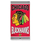 WinCraft NHL Chicago Blackhawks Beach Towel, Team Color, One Size