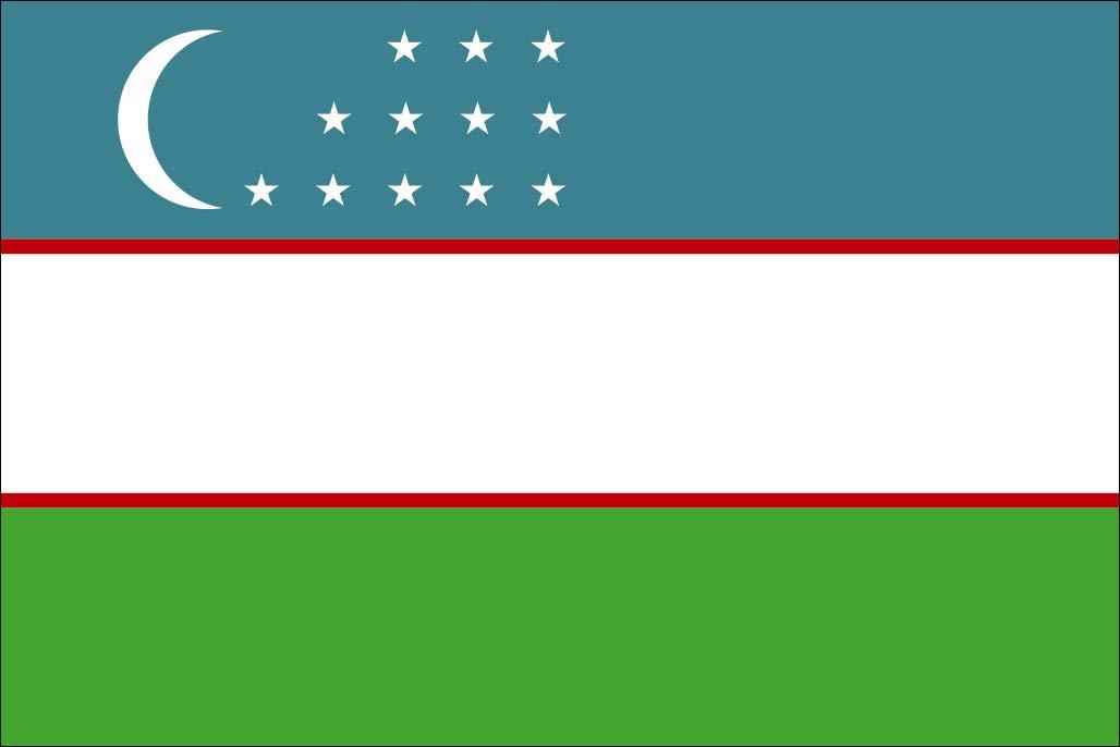 太田旗店 ウズベキスタン 国旗 地球にやさしい外国旗 (90×135cm) B07BSVWHXZ 90×135cm